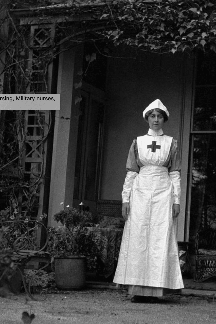 Agatha Christie in Nurse Uniform