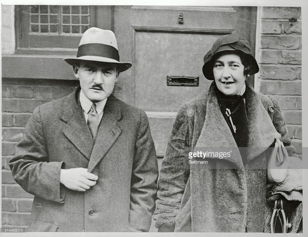 Agatha Christie and her second husband Max Mallowan